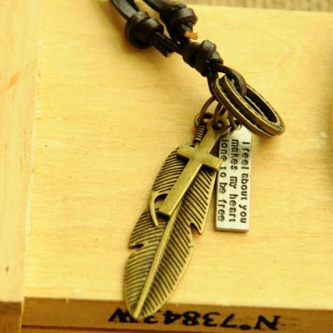 Colar-cordão-de-couro-autêntico-Vintage-colar-cordão-de-couro-masculino-de-pena-longa-colar-pingente