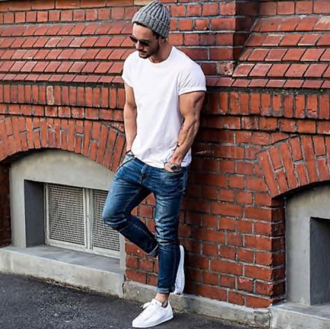 camiseta-lisa-branca-street-style