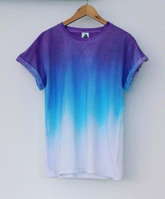 Faça você mesmo: Camiseta Ombré